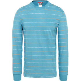 The North Face Stripes L/S Tee Men storm blue